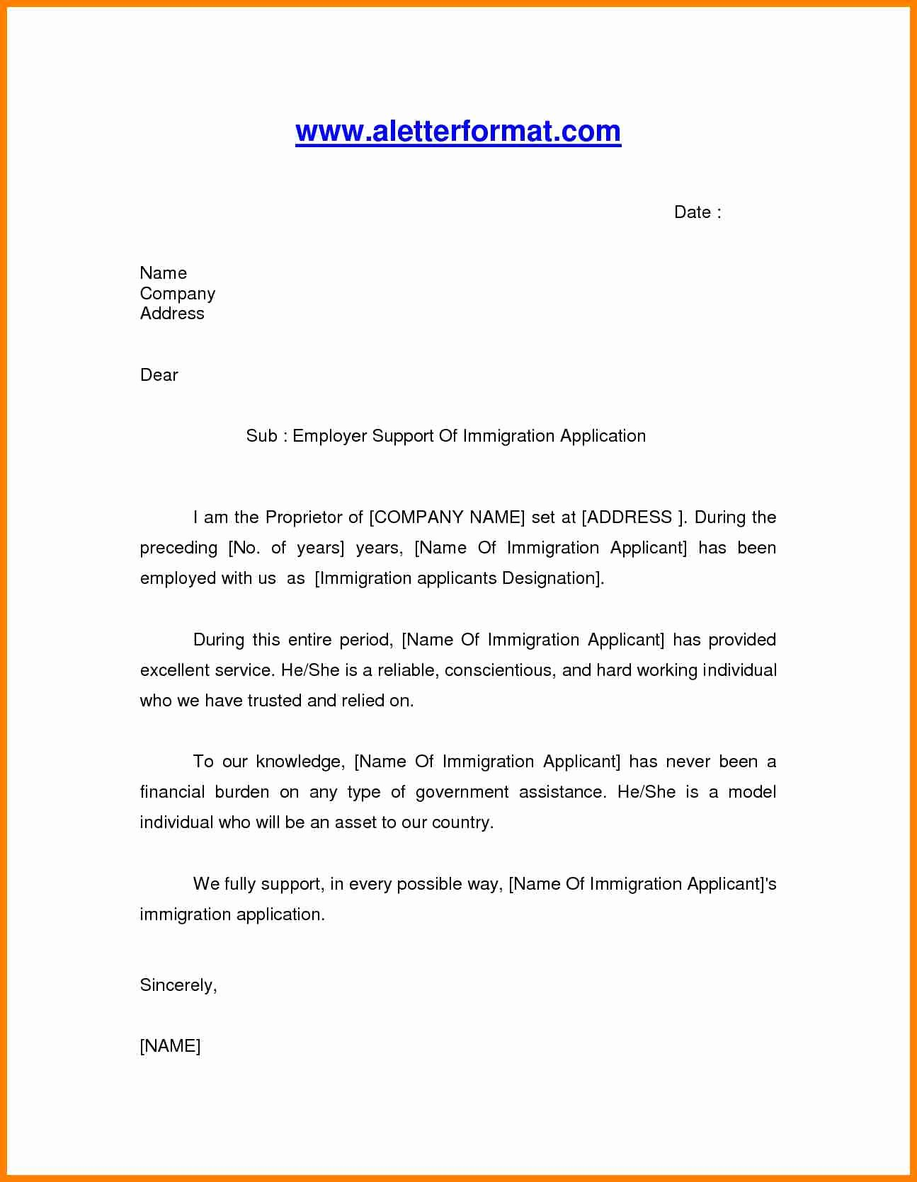 Immigration Letter Of Recommendation Sample Lovely 6 Immigration Letter Of Re Mendation for A Friend
