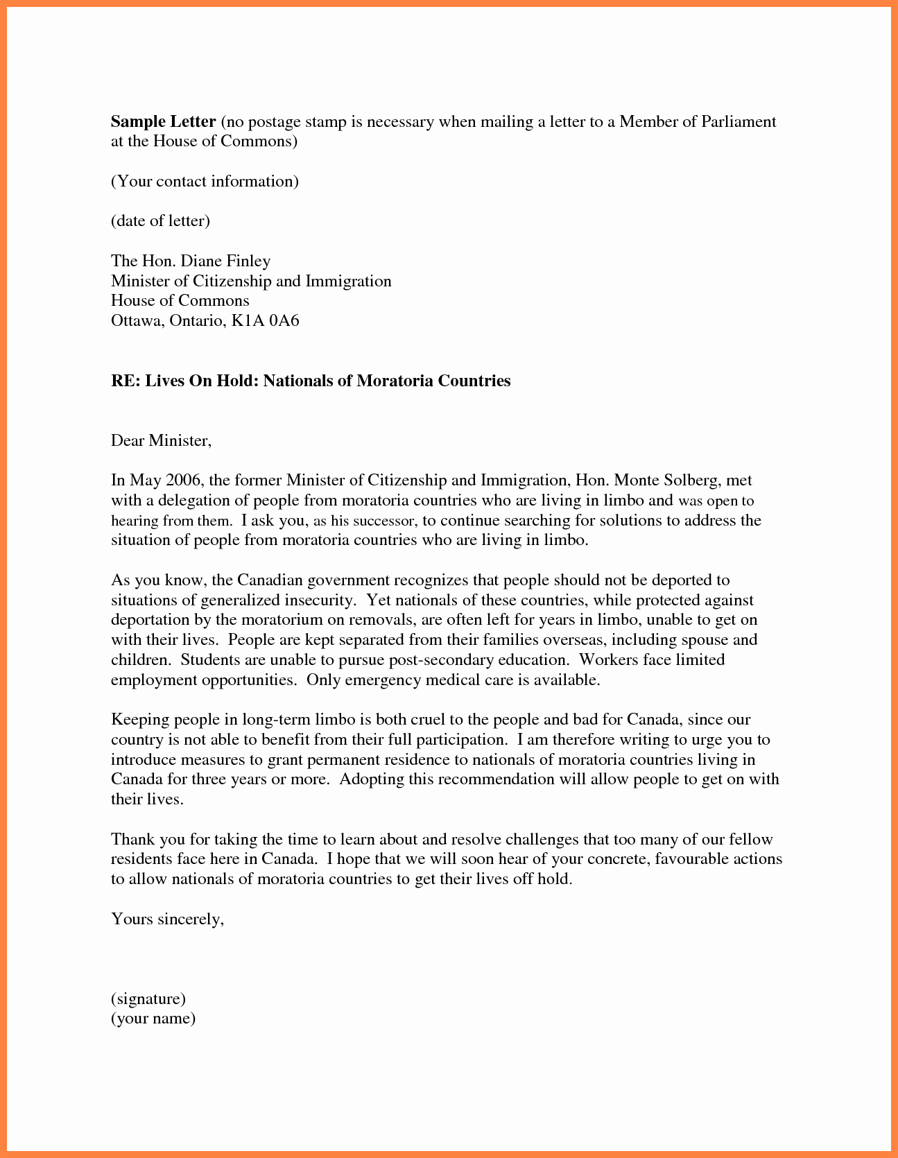 Immigration Recommendation Letter Sample Unique 7 Personal Re Mendation Letter for Immigration Sample