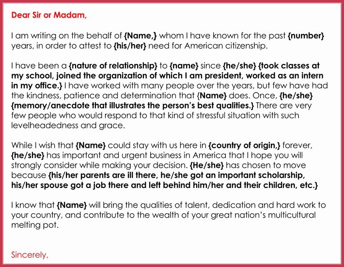 Immigration Recommendation Letter Template Best Of Immigration Reference Letters 7 Samples formats and