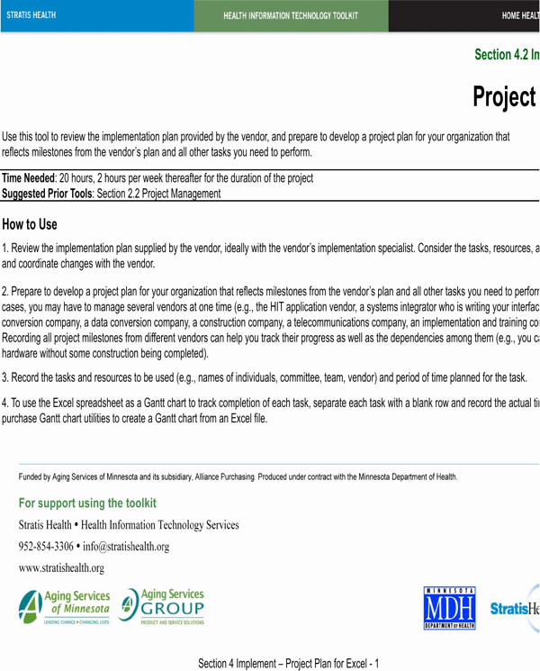 Implementation Plan Template Excel Inspirational Download Project Implementation Plan Template Excel for