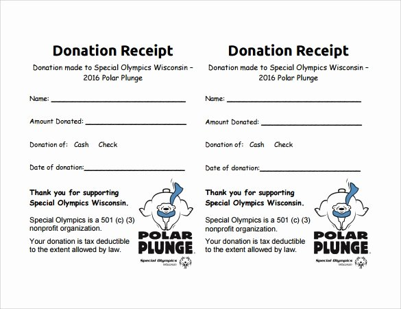 In Kind Donation Receipt Template Elegant 10 Donation Receipt Templates – Free Samples Examples