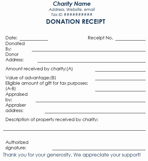 In Kind Donation Receipt Template Fresh Blank In Kind Donation form Template Templates Resume