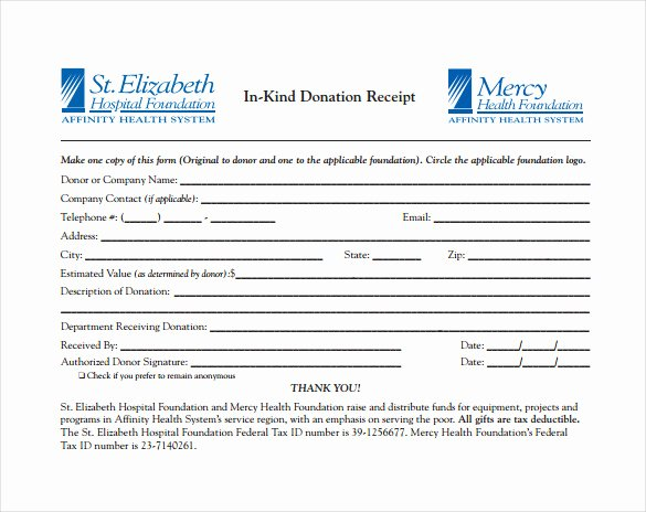 In Kind Donation Receipt Template Unique 20 Donation Receipt Templates Pdf Word Excel Pages