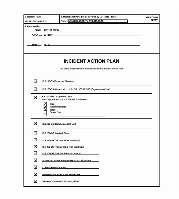 Incident Action Plan Template Best Of Incident Action Plan Template Beepmunk