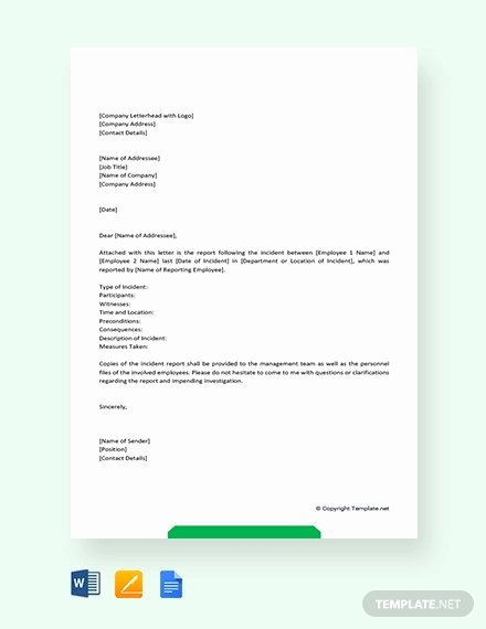 Incident Report format Letter Awesome 6 Incident Report Letter Examples Pdf