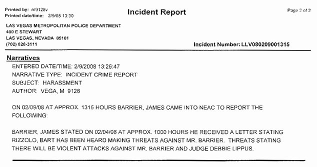 Incident Report format Letter Lovely Rick Porrello S Americanmafia Steve Miller