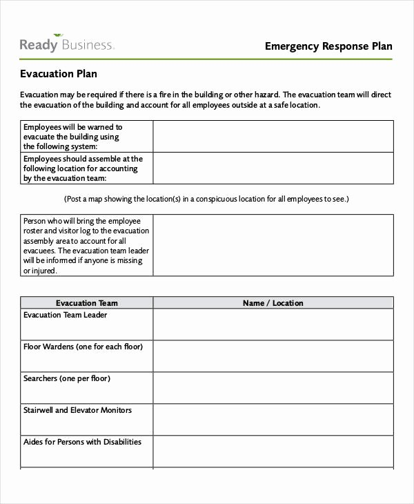 Incident Response Plan Template Elegant 29 Emergency Plan Examples Word Google Docs Apple