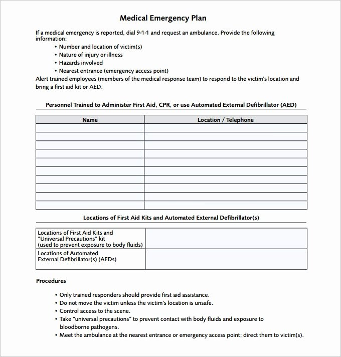 Incident Response Plan Template Fresh Emergency Response Plan Template
