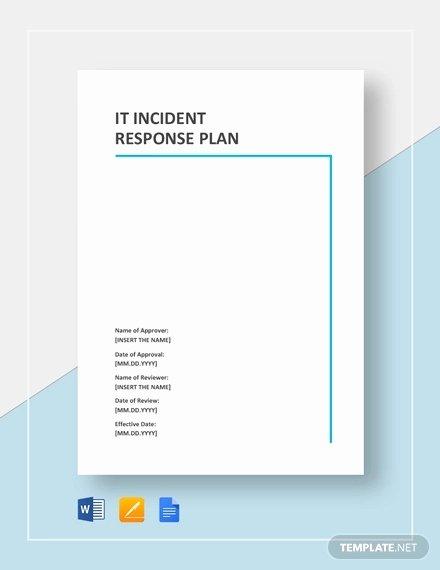 Incident Response Plan Template Luxury 11 Incident Response Plan Templates Pdf Word format