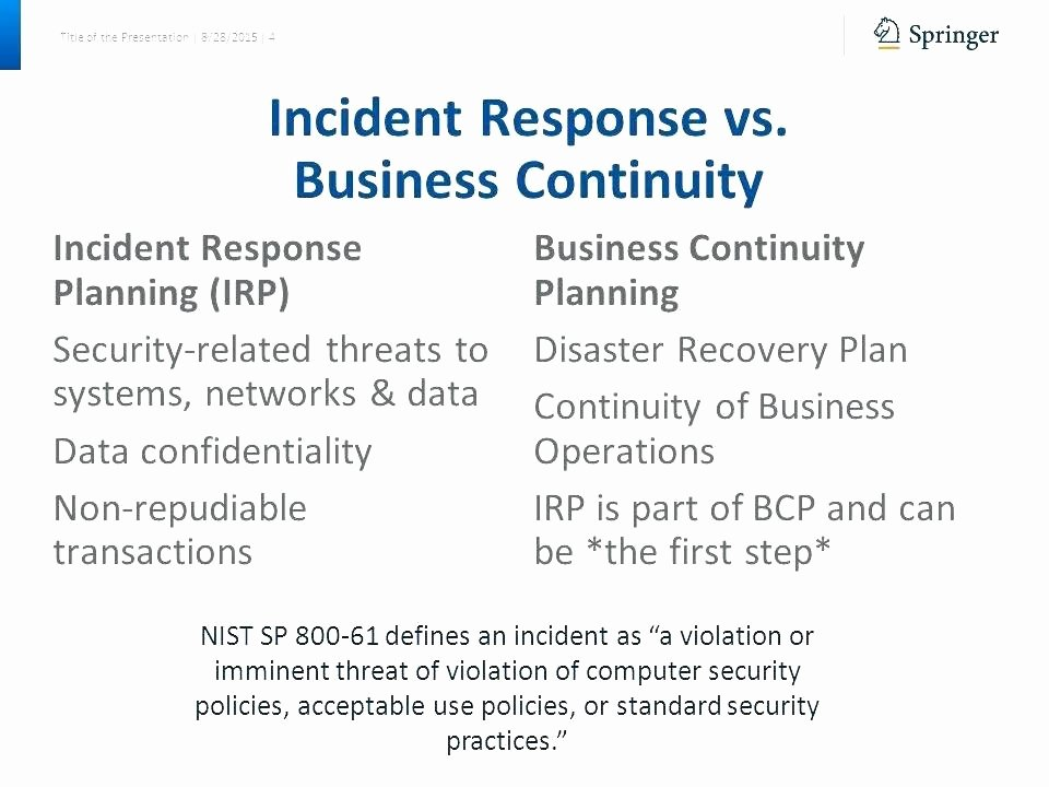 Incident Response Plan Template Nist Awesome It Security Incident Response Plan Template