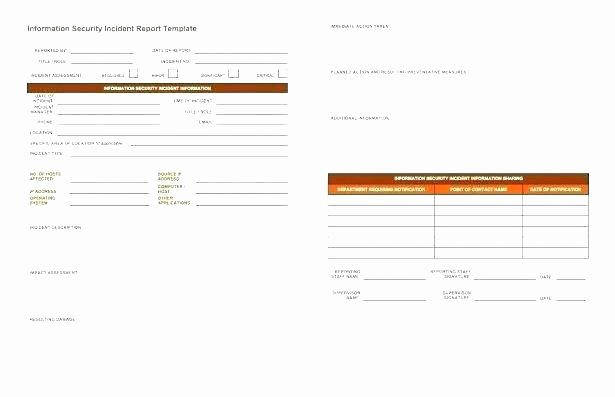 Incident Response Plan Template Nist Unique Elegant Security Incident Response Plan Template Pics It