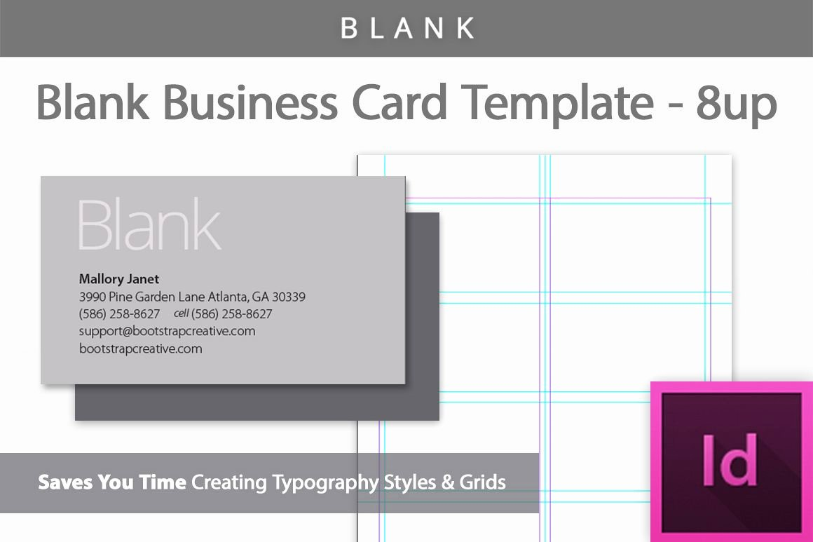Indesign Business Plan Template Elegant Blank Business Card Indesign Template