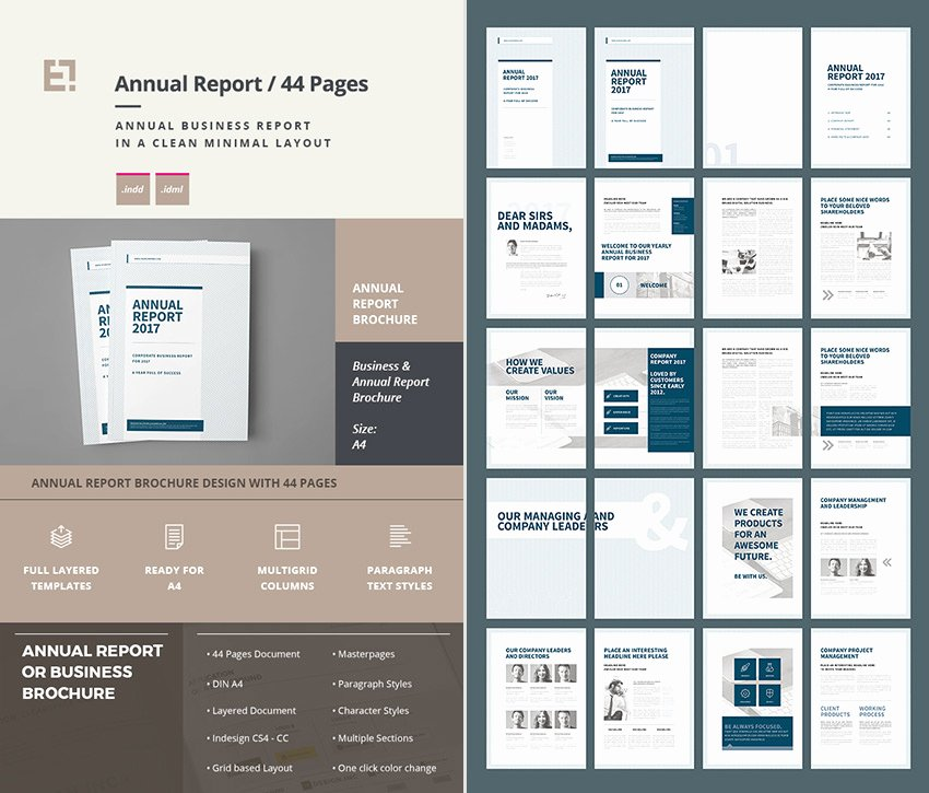 Indesign Business Plan Template Inspirational 15 Annual Report Templates with Awesome Indesign Layouts