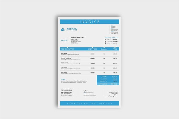 Indesign Business Plan Template Lovely 23 Business Invoice Templates Psd Word Pdf Documents