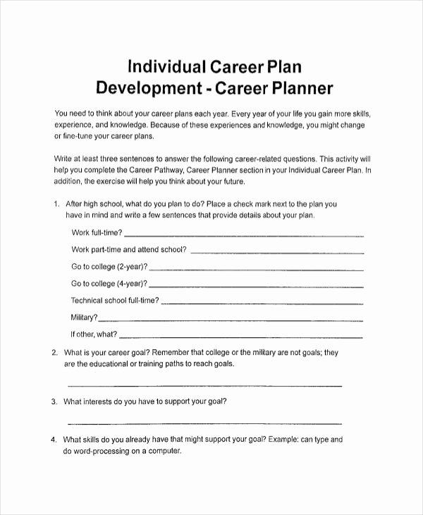 Individual Career Development Plan Template Beautiful 11 Individual Development Plan Examples & Samples Pdf