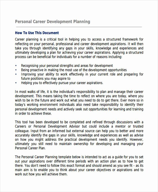 Individual Career Development Plan Template Fresh 58 Development Plan Examples & Samples Pdf Word Pages