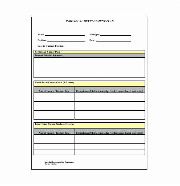 Individual Career Development Plan Template New Individual Development Plan Template Well Likeness format