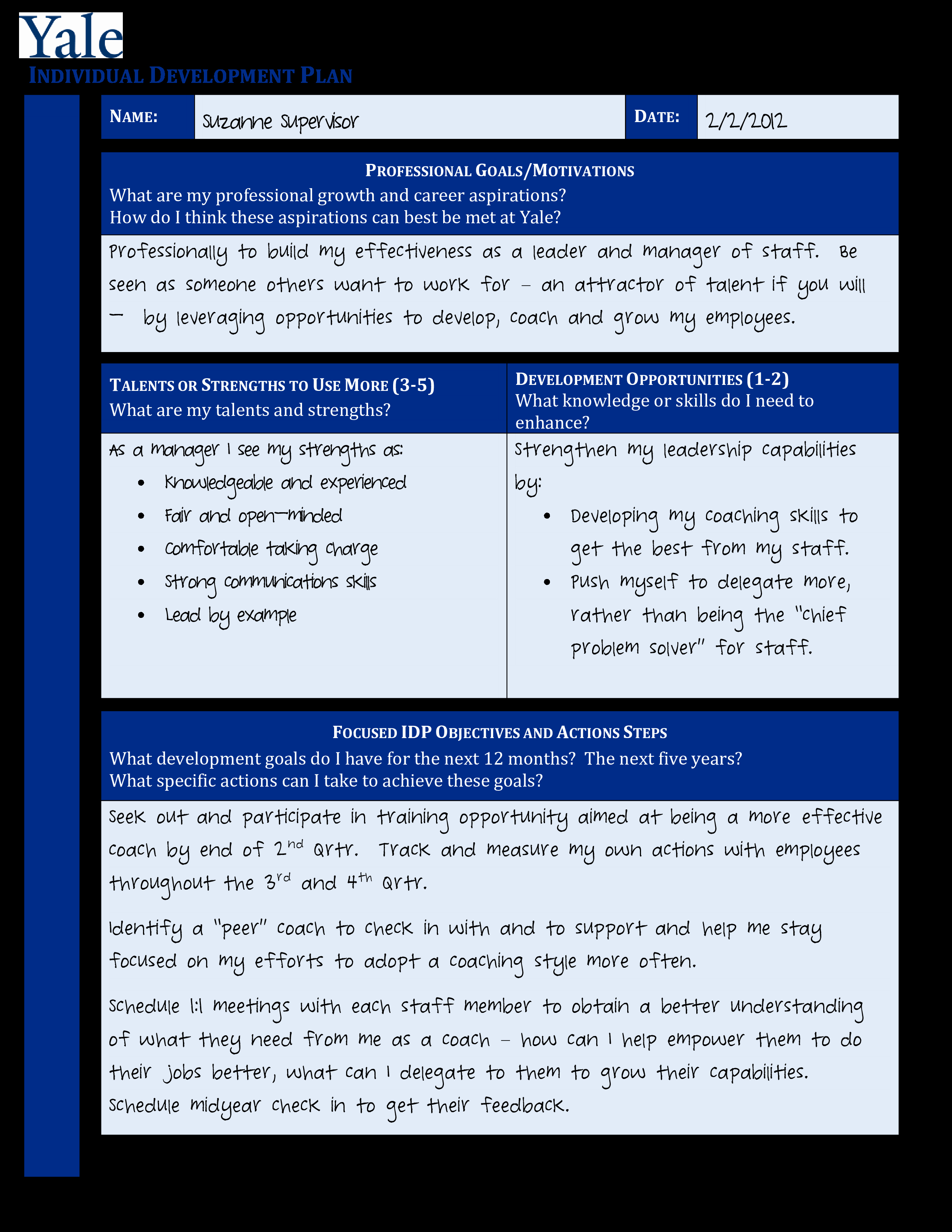 Individual Development Plan Template Best Of Free Individual Development