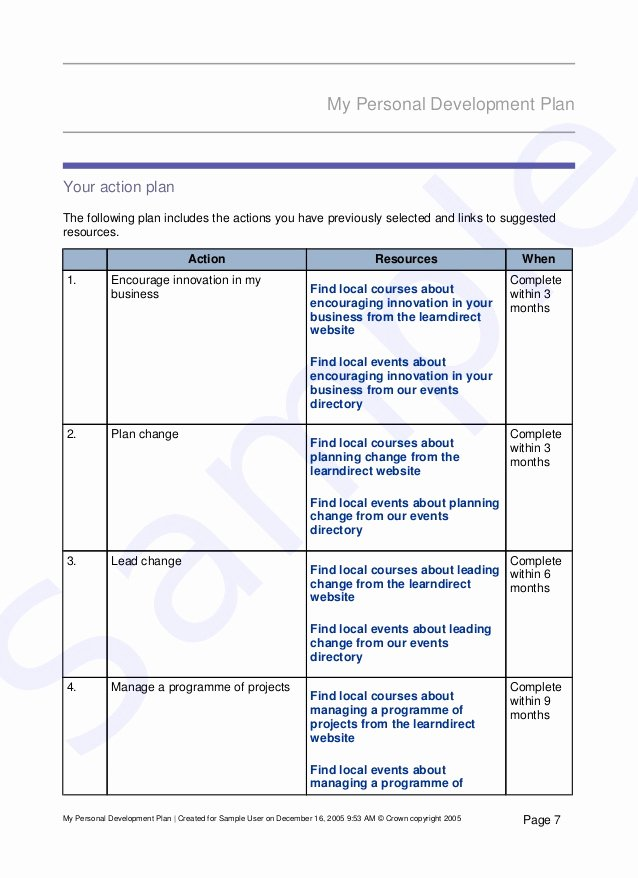 Individual Development Plan Template Word Lovely Development Plan Template