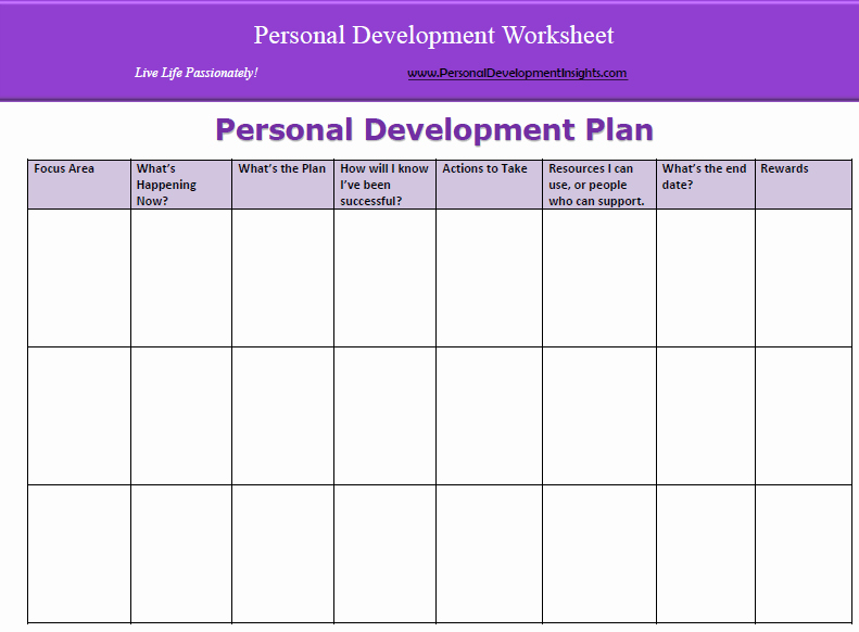 Individual Development Plan Template Word New 6 Personal Development Plan Templates Excel Pdf formats