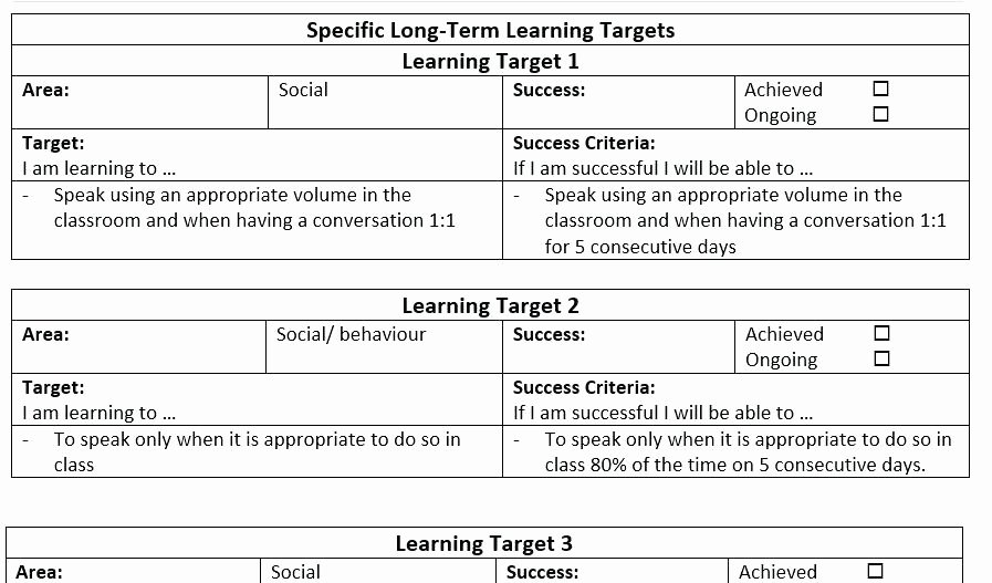 Individual Education Plan Template Best Of Individual Development Plan Template Well Likeness format
