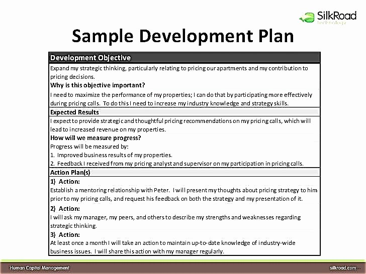 Individual Employee Training Plan Template Luxury Individual Development Plan for Employees