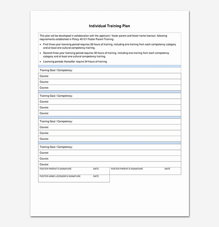 Individual Employee Training Plan Template New Training Plan Template 26 Free Plans & Schedules