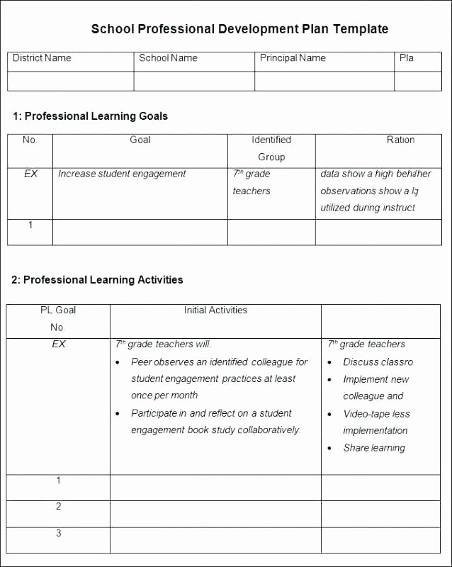 Individual Learning Plan Template New Individual Learning Plan Examples Primary School Personal