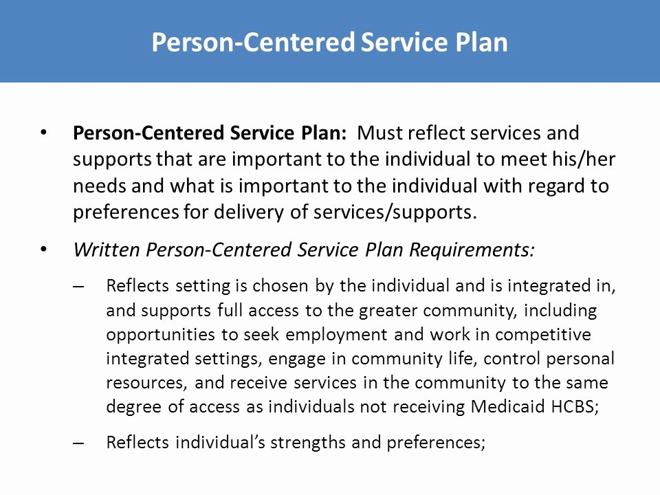 Individual Service Plan Template Best Of Hcbs Settings Regulations Ppt Video Online