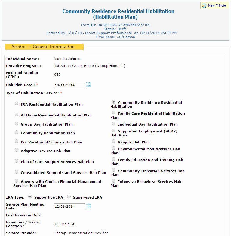 Individual Service Plan Template Lovely Individual Habilitation Plans therap