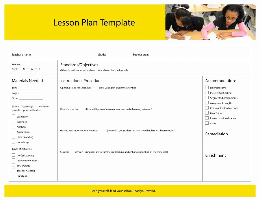 Individual Student Success Plan Template Beautiful 44 Free Lesson Plan Templates [ Mon Core Preschool Weekly]