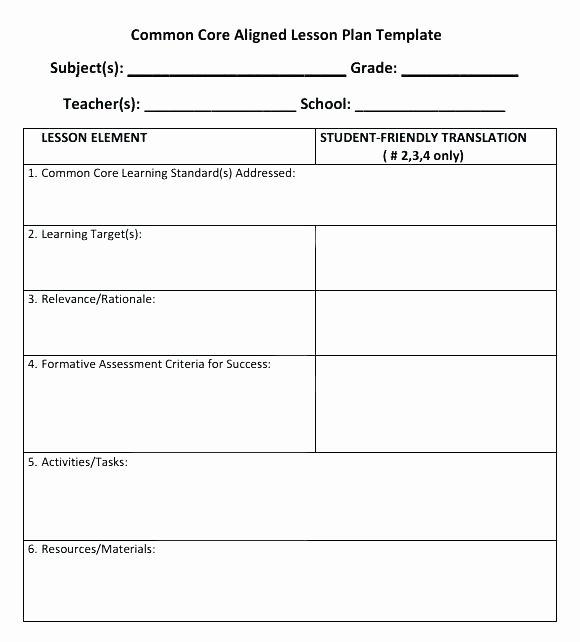 Individual Student Success Plan Template Elegant Blank 5 E Lesson Plan Template Get Blank Pe Lesson Plan