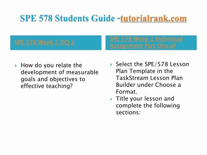 Individual Student Success Plan Template Luxury Ppt Spe 578 Course Success Begins Tutorialrank