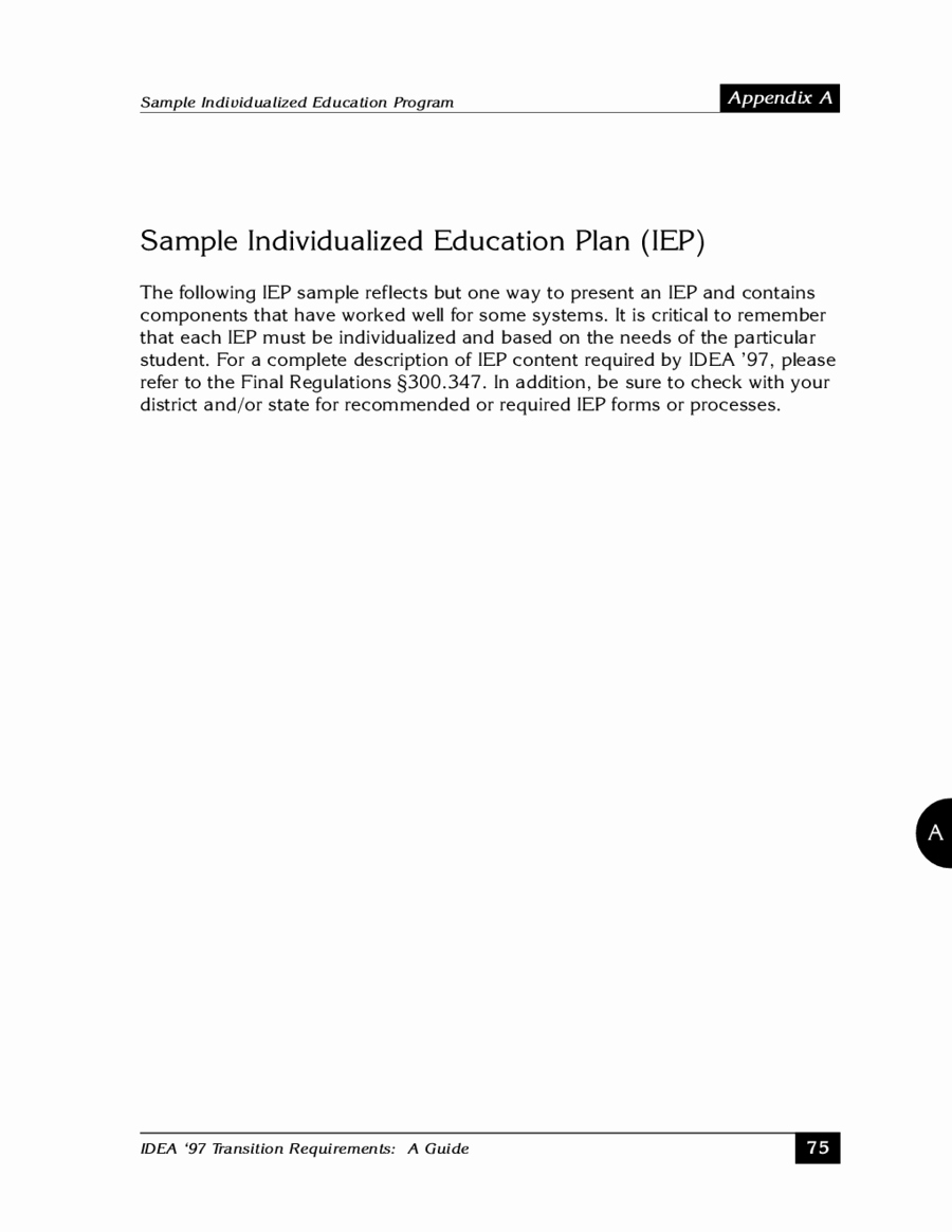 Individualized Education Plan Template Best Of 2018 Individual Education Plan Fillable Printable Pdf
