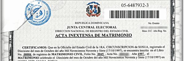 Inextensa In English Best Of solicite Una Copia De Su Certificado De Matrimonio Dominicano