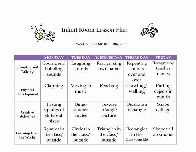 Infant Lesson Plan Template Fresh Best 25 Infant Curriculum Ideas On Pinterest