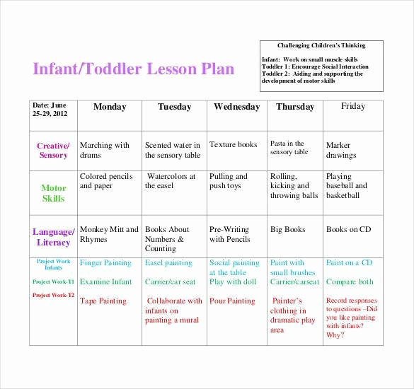 Infant Lesson Plan Template New 59 Lesson Plan Templates Pdf Doc Excel