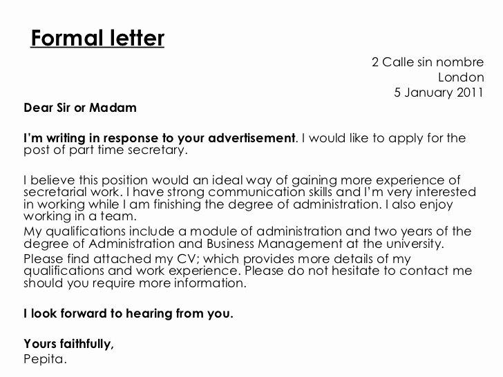 Informal Letter format Sample Best Of formal Letter Vs Informal Letter