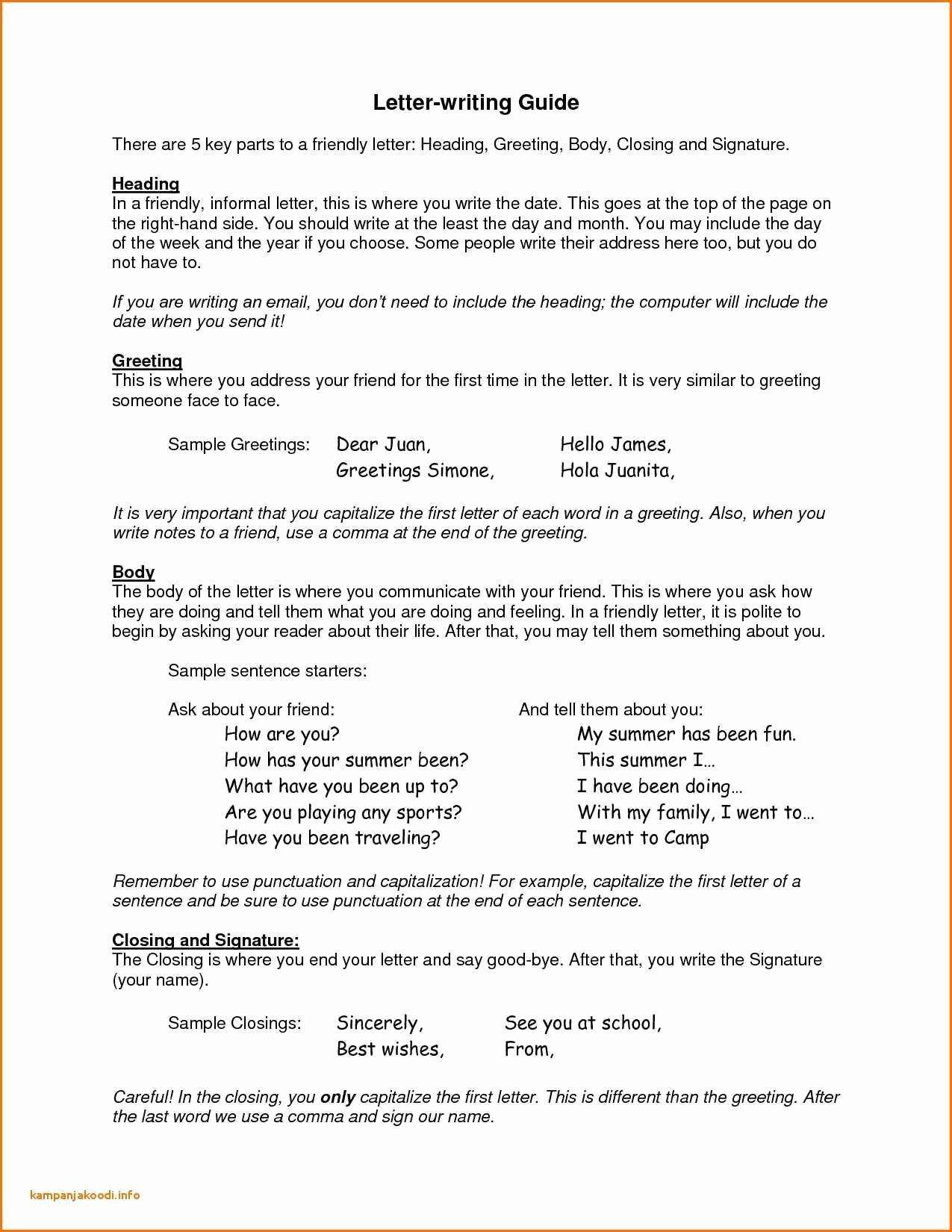 Informal Letter format Sample Elegant 12 Informal Business Letters