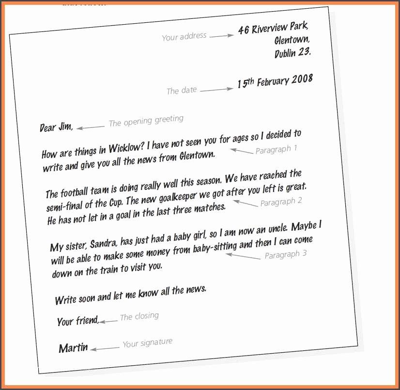 Informal Letter format Sample Inspirational Informal Letter format and Example and 21 Letter format