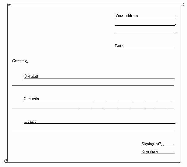 Informal Letter format Sample Lovely Guidelines to Write An Informal Letter