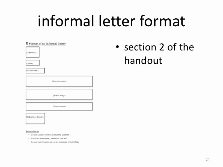Informal Letter Writing format Beautiful Week 4 Informal Writing 2