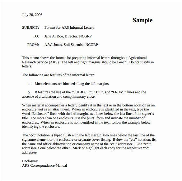 Informal Letter Writing format Best Of 10 Sample Informal Letters Doc Pdf