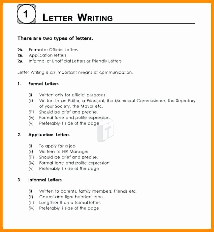 Informal Letter Writing format Elegant 11 Example Of Informal Writing