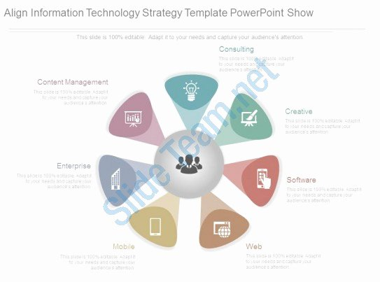 Information Technology Strategic Plan Template Lovely Style Circular Hub Spoke 7 Piece Powerpoint