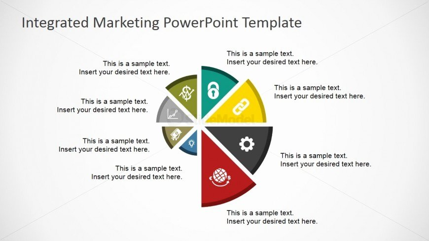 Integrated Marketing Plan Template Beautiful Flat Spyral Chart for Powerpoint Slidemodel