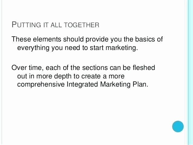 Integrated Marketing Plan Template Lovely Marketing and Munications Plan Template Integrated