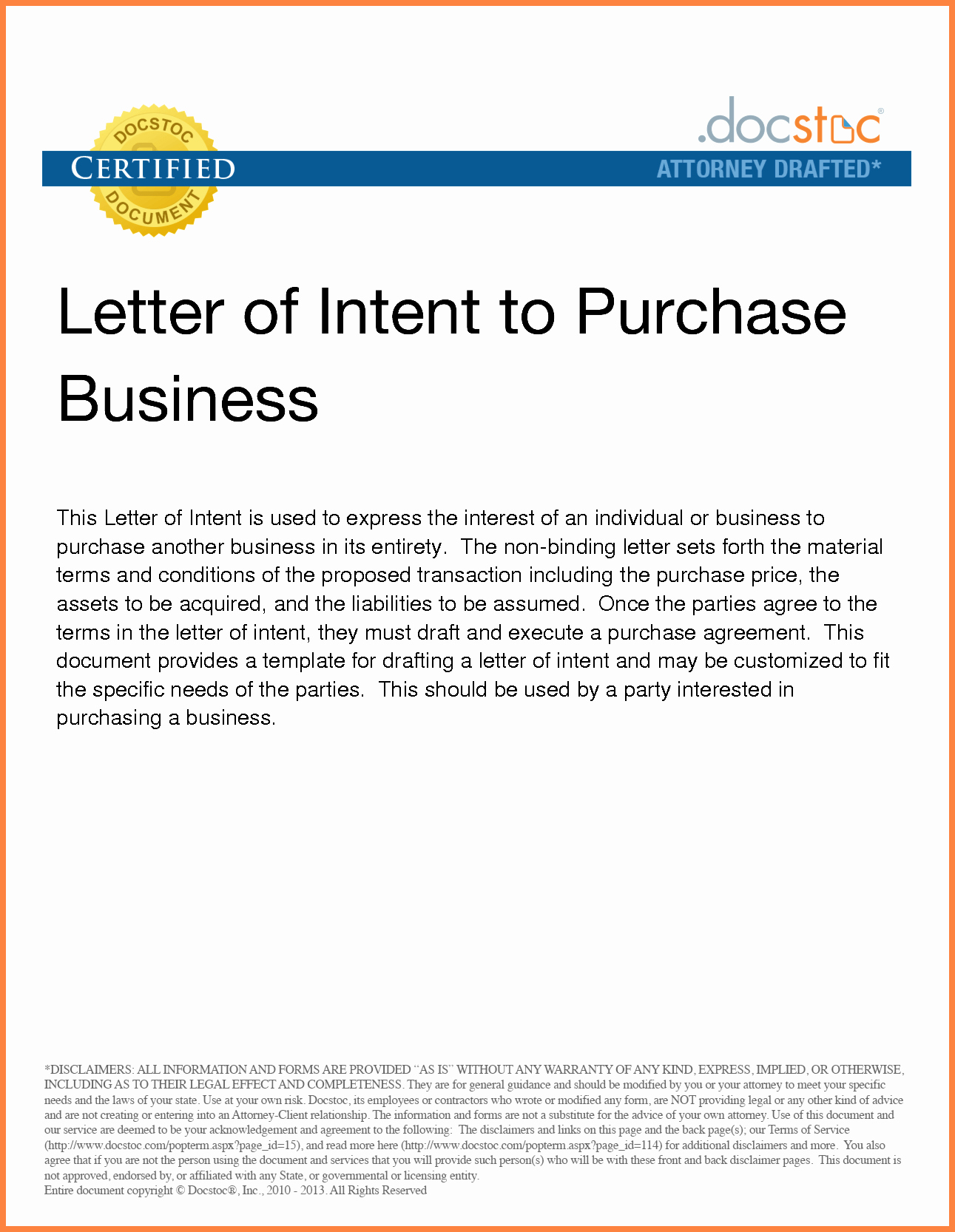 Intent to Purchase Business Agreement Best Of 6 Letter Of Intent to Purchase Business Template