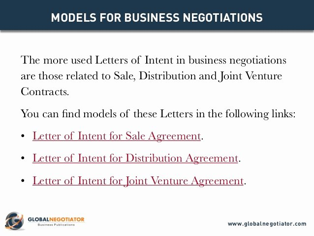 Intent to Purchase Business Agreement Best Of Letter Of Intent Models for Business Negotiations