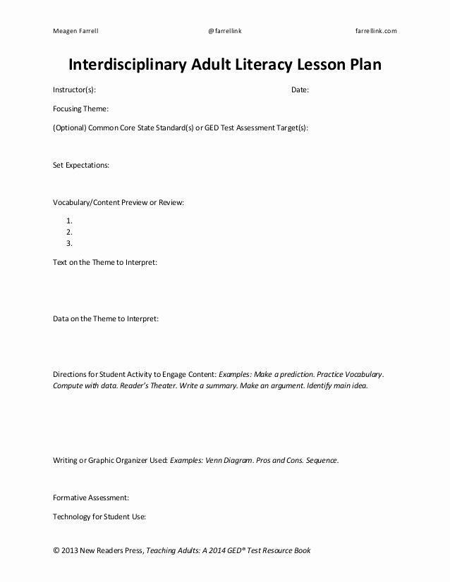 Interdisciplinary Unit Plan Template Inspirational Lesson Plan Handout and Template orange You Glad Math